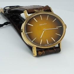 Zenith-Orologio-donna-meccanico-carica-manuale-cassa-acciaio-laminato-oro-giallo-cinturino-pelle-Ztcei-wg