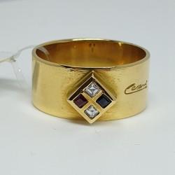 cesari-anello-fascia-oro-giallo-con-diamanti-zaffiro-e-rubino-taglio-carre-