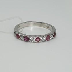 anello-veretta-in-oro-bianco-con-pietre-alternate-bianche-e-rosse