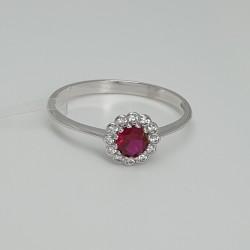 anello-in-oro-bianco-con-zircone-rosso-centrale-e-contorno-zirconi-bianchi