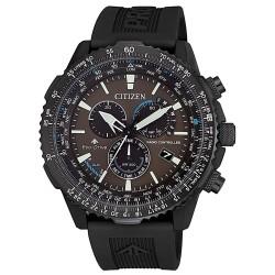 Citizen-Orologio-Pilot-Eco-Drive-uomo-radiocontrollato-cassa-bracciale-acciaio-nero-cb500513x