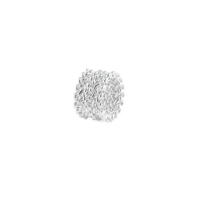 unoaerre-anello-bronzo-argentato-fascia-tessuto-chicco-di-riso-exa62