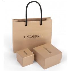 Unoaerre - Bracciale bronzo argentato catena grumetta 18cm
