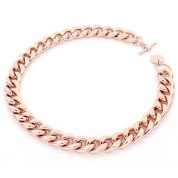 Unoaerre - Collana bronzo dorato rosa