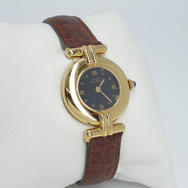 Cartier - Orologio argento laminato oro