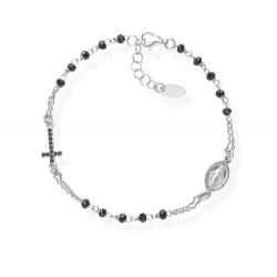 Amen-bracciale-rosario-argento-cristalli-neri