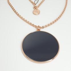 unoaerre-collana-bronzo-rosato-lunga-con-medaglione-nero-exh4314