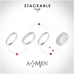 Amen - Anello Corona Stackable