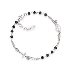 Amen-bracciale-argento-rosario-cristalli-neri