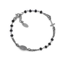 bracciale-argento-rosario-cristalli-neri