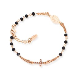 Amen - Bracciale rosario cristalli pavé