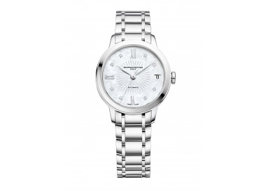 Baume-Mercier-Classima-Lady-Automatico-Donna-quadrante-madreperla-bracciale-acciaio-M0A10268