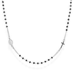 Amen-collana-rosario-argento-cristalli-neri