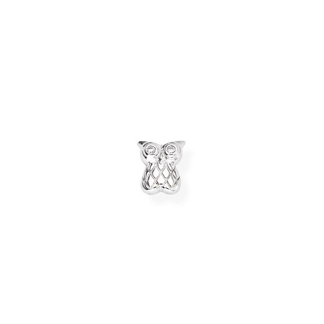amen-mono-orecchino-gufo-argento-rodiato-zircone-bianco-eb19