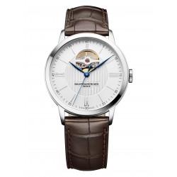Baume-Mercier-Classima-Open-Balance-automatico-cinturino-pelle-marrone-acciaio-m0a010274