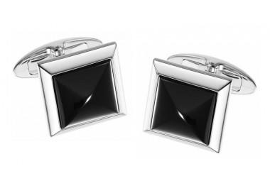 Zancan-Gemelli-in-acciaio-quadrati-con-madreperla-nera-ehg011b-mn