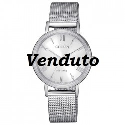 Citizen-Eco-Drive-Lady-Orologio-donna-con-bracciale-acciaio-quadrante-argentato-em0571-83a