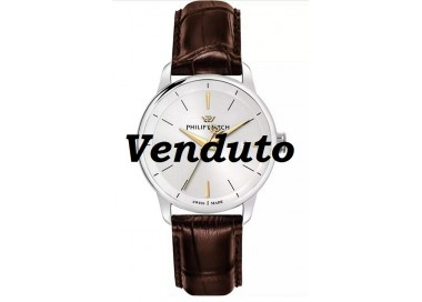 Philip-Watch-Anniversary-Orologio-uomo-quarzo-cinturino-pelle-marrone-R8251150001