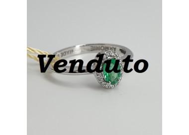 Armonie-by-Progetti-Oro-Anello-oro-bianco-diamanti-smeraldo-P5l1