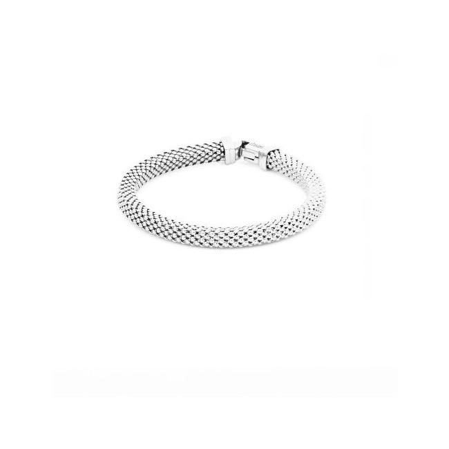 Unoaerre-bracciale-bronzo-argentato-catena-agganciata-19cm