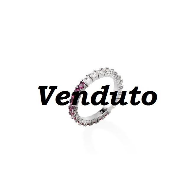 Amen - Anello Veretta zirconi