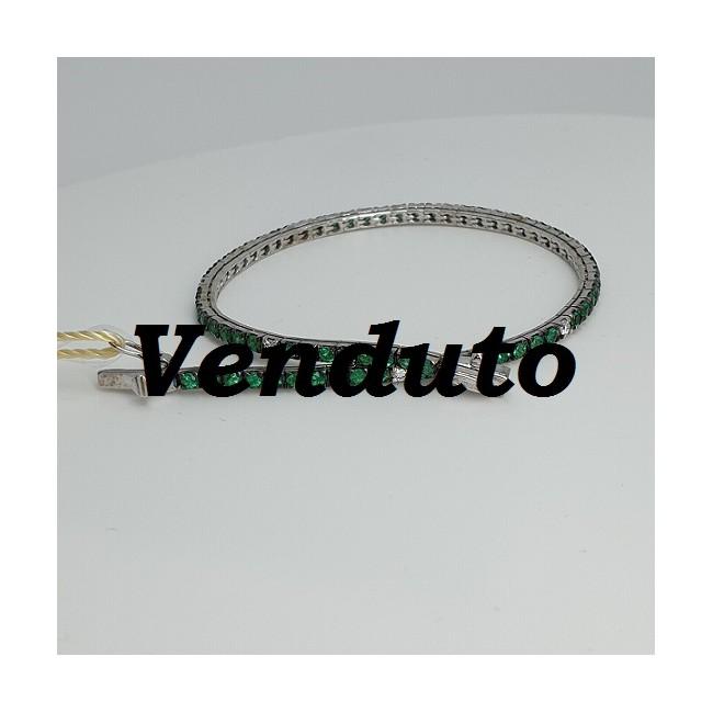 Armonie-by-Progetti-Oro-Bracciale-tennis-oro-bianco-diamanti-smeraldi-p5y4