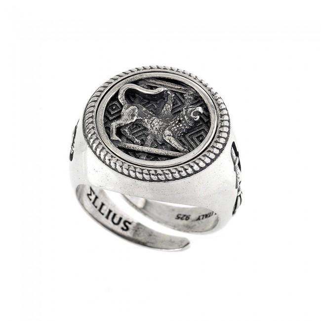 anello-argento-ellius-anello-chimera-tondo-a007-18-rv