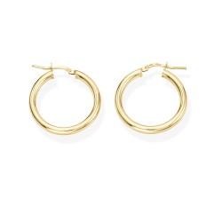 Amen-orecchini-argento-cerchio-dorato-2cm