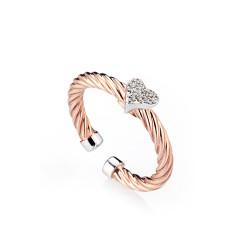 MArcello-pane-anello-argento-rosato-intrecciato-cuore-zirconi