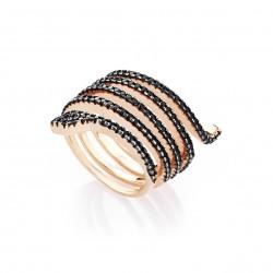 marcello-pane.anello.argento-rosato-spirale-serpente-zirconi-neri