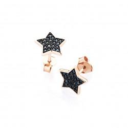 marcello-pane-orecchini-argento-rosato-stella-zirconi-neri