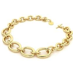 Unoaerre-Collana-bronzo-dorato-catena-forzatina-scalare-49cm