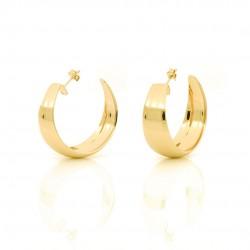 unoaerre-orecchini-bronzo-dorato-cerchio-bombati