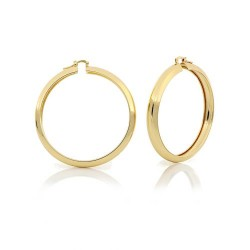 Unoaerre-Orecchino-bronzo-dorato-cerchio-classico-medio-lucido