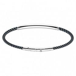 zancan-bracciale-argento-bicolore-kevlar-tubolare-nero