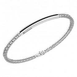 zancan-bracciale-argento-maglia-stile-greco-spinelli-neri
