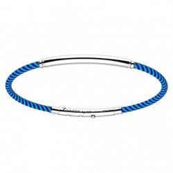 zancan-bracciale-bicolore-kevlar-argento-tubolare-blu