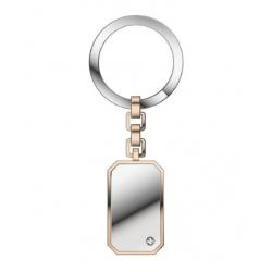 Zancan-portachiavi-acciaio-argento-rosa-zircone