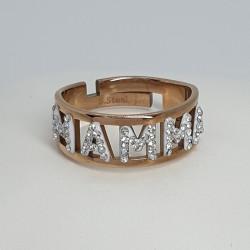 Anello-acciaio-rosato-swarovski-mamma