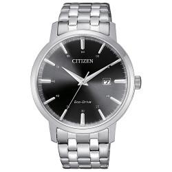 citizen-orologio-eco-drive-classic-uomo-bracciale-cassa-acciaio-quadrante-nero-bm746088e