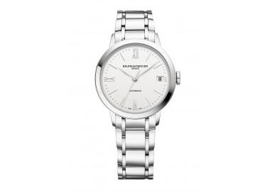 Baume-Mercier-Classima-Lady-Automatico-Orologio-donna-acciaio-quadrante-bianco-m0a10467