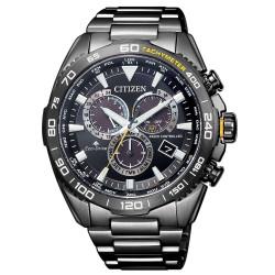 citizen-orologio-uomo-acciaio-eco-drive-crono-motor-e660-radiocontrollato-bracciale-nero-cb503784e