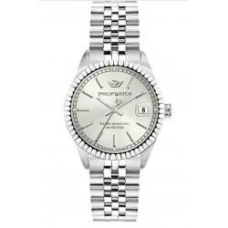 Philip-Watch-Caribe-Donna-Orologio-quarzo-quadrante-Silver-bracciale-acciaio-r8253597543
