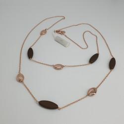 Marcello-pane-collana-argento-rosato-elementi-pepite-marrone-bronzo-clar107r
