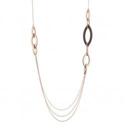 Marcello-pane-collana-argento-rosato-elementi-ovali-marrone-bronzo-clar060
