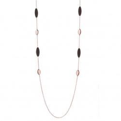 Marcello-pane-collana-argento-rosato-elementi-pepite-marrone-bronzo-clar107