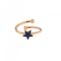 rue-des-mille-anello-aperto-argento-rose-stella-zirconi-blu