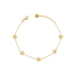 Rue-des-mille-bracciale-argento-dorato-catena-5stelle