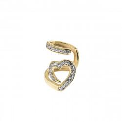 Rue-des-mille-earcuff-argento-dorato-cuore-snake-zirconi-bianchi
