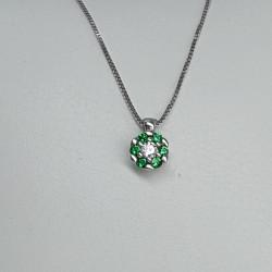 collana-oro-bianco-con-pendente-zirconi-verdi-bianchi